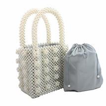 Womens Beaded Handbags Handmade Weavel Pearl Tote Bags fit Wedding Party... - $89.54