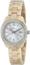 Caravelle New York Women's 43M109 Crystal-Accented Stainless Steel Watch - £269.94 GBP