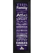 """University of Northwestern """"Eagles"""" - 24 x 8 Family Cheer Framed Print - $39.95"""