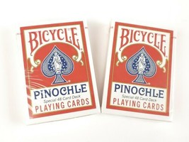 Bicycle Pinochle Playing Cards 2 Special 48 Card Decks NEW SEALED RED - $12.99