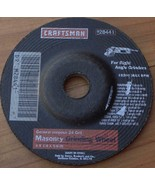 Craftsman 28441 General Purpose 24 Grit Masonry Grinding Wheel - 4 x 1/4... - $6.92
