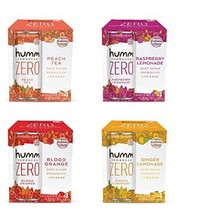 Humm Kombucha Zero Sugar Variety Pack - Live and Raw Kombucha - No Refrigeration