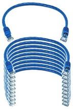 IMBAPrice® (10 Pack) Blue 1 Feet (1ft) Molded UTP Cat6 Ethernet Network ... - $37.92