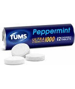 Tums Ultra Strength 1000 Peppermint Antacid 12 Rolls in Each Roll 12 tab... - $27.99