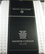 Hotel Balfour White Waffle Weave Cotton Shower Curtain - $49.99