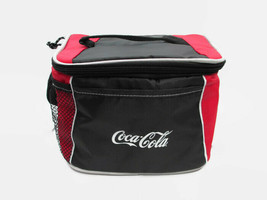Coca-Cola 6-pack Lunch Cooler Bag Red and Black Colorblock w/ Handle and Strap - $9.65