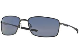 Oakley Metallico Quadrato OO4075-04 Carbone Telaio/Grigio Lenti Polarizzate - $173.10