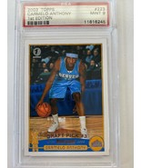 2003 Topps Draft Pick Carmelo Anthony Rookie RC #223 PSA 9 MINT 1st Edit... - $989.01
