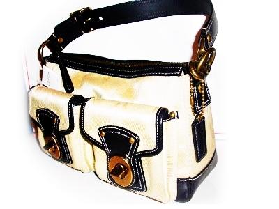 Coach Legacy Medium Khaki Signature Shoulder Bag