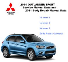 2011-2012 Mitsubishi Outlander Sport RVR Factory Repair Service Manual - $15.00
