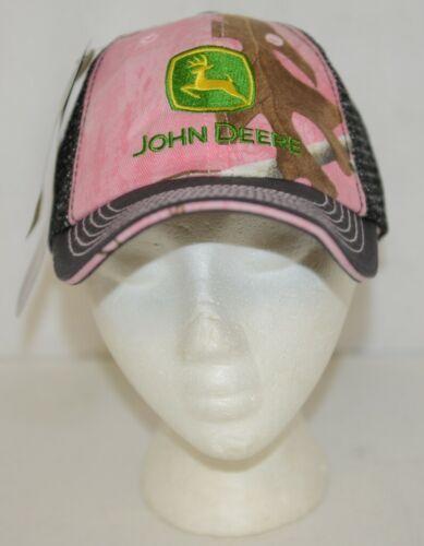 John Deere LP66998 Realtree AP Pink Camo Gray Sparkle Mesh Cap