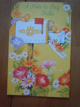 Vintage A Note to Say Hello Greeting Card by American Greetings - $2.99
