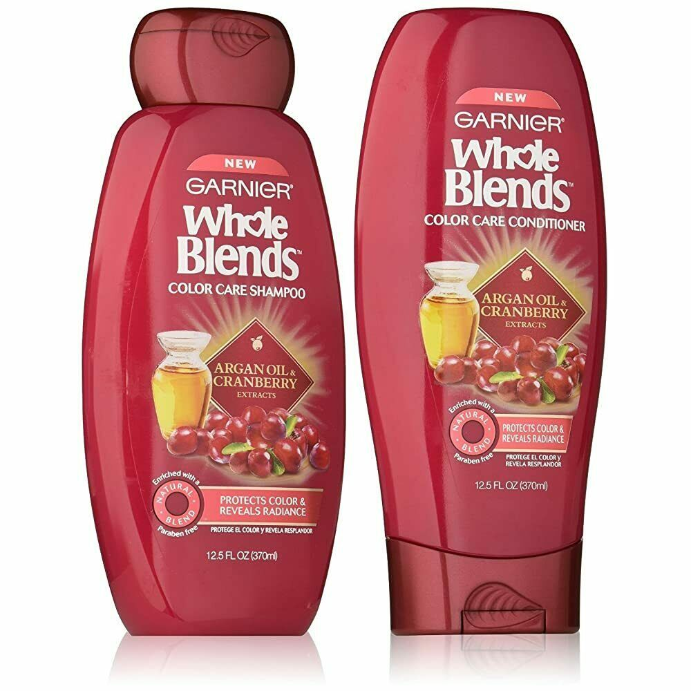 2 PACK GARNIER WHOLE BLENDS COLOR CARE SHAMPOO & CONDITIONER WITH ARGAN OIL AND  - $19.80