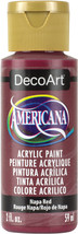 Americana Acrylic Paint 2oz-Napa Red - Opaque - $5.62
