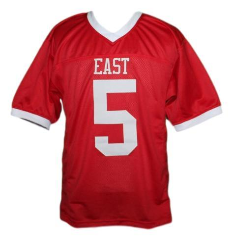 Vince howard  5 east dillon lions football jersey red   1