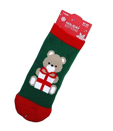 Set of 4 Christmas Theme Baby Socks Lovely Little Bear Cotton Winter Baby Socks