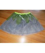 Size Large 10-12 Cat & Jack Halloween Tutu Skirt Smoke Gray Lime Green S... - $12.00