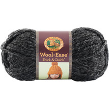 Lion Brand Wool-Ease Thick & Quick Yarn-Charcoal - $11.16