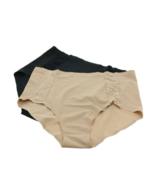 Rhonda Shear 2 pack panties (673243), Black/Nude, XL - $18.80
