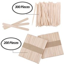 Senkary 500 Pieces Wooden Wax Sticks Waxing Sticks Wood Wax Applicator Sticks fo image 5