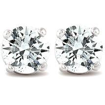 1/3 CT. T.W. Sim White Diamond Studs 14K White Gold Finish 925 Silver - $40.99