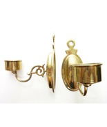 Vintage Brass Two Candle Holders Wall Scone Tealight Candle Holder - $45.00