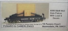 Funaro & Camerlengo HO Boston & Maine well hole flat car with load Kit 6590 image 1