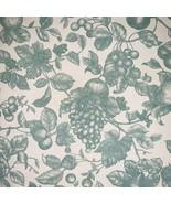8.6 Yard Waverly Inspiration Aqua Fruit Toile French Country Shabby Chic Fabric - $128.99