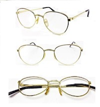 1 or 2 Pairs Gold Frame Wide Bridge Reading Glasses Oval Glass Reader 1.... - $5.95