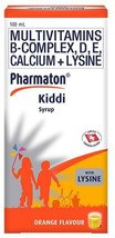 6  pcs Pharmaton Kiddi Vitamin Syrup for Kids Increase Appetite for Growth - $71.28