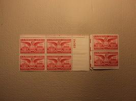 USPS Scott C40 6c Alexander Virginia Bicentenial 1949 Plate Block Mint N... - $5.31