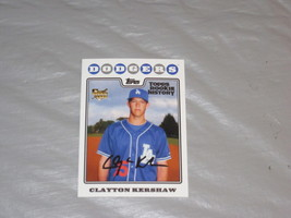 2018 Topps Archives Topps Rookie History Clayton Kershaw 2008 RC Reprint - $2.49