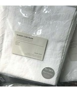West Elm Set 2 Sheer Chevron Drape White 48x108 Curtain Geometric Pair  - $179.00