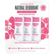 Schmidt's Natural Deodorant Rose+Vanilla 3.25oz 92g 3-pack Freeshipping - $28.04