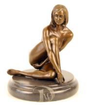 Antique Home Decor Bronze Sculpture shows Woman Erotic Bronze *Free Air ... - $289.00