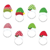 Santa and Elf Hat Headbands 8 Per Package - $8.39