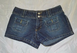 Juniors Old Navy Denim Jean Blue Short Shorts ~ Sz 1 ~Cotton/Poly/Spandex - $12.86