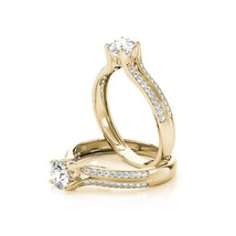 Forever Brilliant Moissanite Cathedral Double Row Diamond Engagement Rin... - $1,325.00