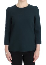 Dolce & Gabbana Green 3/4 sleeve wool blouse - $351.13