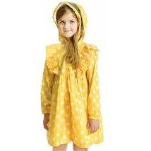 Polka Dots Toddler Rain Wear Cute Baby Rain Jacket Infant Raincoat YELLOW S 2Y