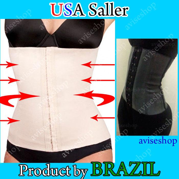 fe28eede09d BRAZILIAN WAIST TRAINER SLIM BODY SHAPER CORSET LATEX RUBBER CINCHER FIRM  BELT
