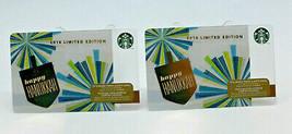 Starbucks Coffee 2014 Gift Card Happy Hanukkah Limited Ed Zero Balance S... - $13.98