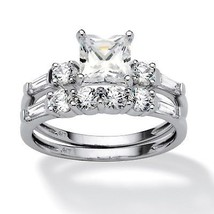 2.52 TCW Cubic Zirconia Bridal Ring Set in 10k White Gold - $194.99