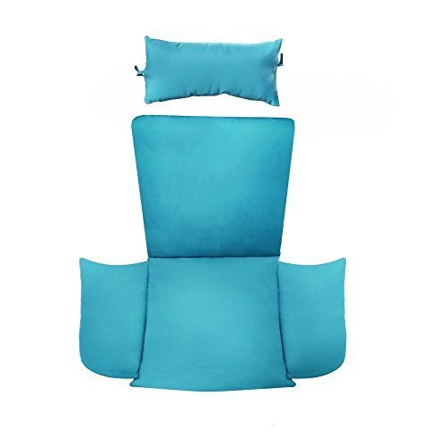 Patio Chair Cushion Replacement with Head Pillow for Outdoor Furniture Hanging S