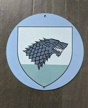 "12"" GOT game of Thrones TV House Stark DIRE WOLF Book STEEL plate displa... - $73.50"