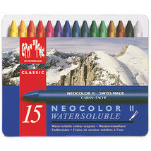Caran D'Ache NeoColor II Water Soluble Wax Pastel Set 15/Pk- - $30.87