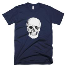 American Apparel Skull T Shirt, Man's Tee, Gift For Husband - $32.00+