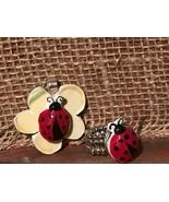 Recycled Porcelain Jewelry, Contemporary Collection, Ladybug Set Ring & ... - $49.50