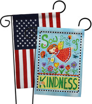 Sow Seeds of Kindness - Impressions Decorative USA - Applique Garden Flags Pack  - $30.97