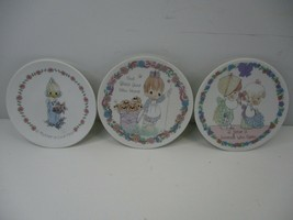 3 Precious Moments Mini Collector's Plates God Bless Your New Home Puppies - $9.99